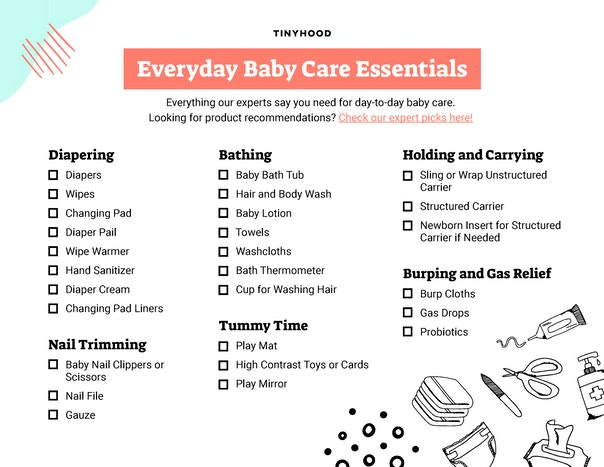 Baby Care Essentials Checklist Preview Image