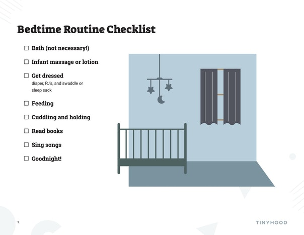 Bedtime Routine Checklist Preview Image