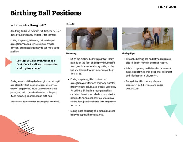 Birthing Ball Positions Preview Image