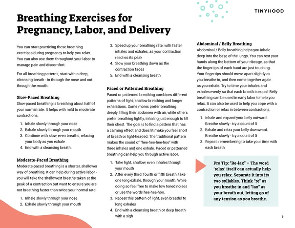 Breathing Exercises for Pregnancy, Labor, & Birth Preview Image