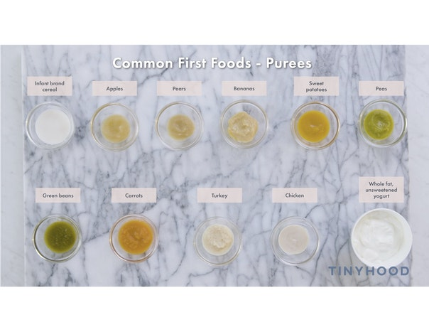 Common First Foods - Purees Preview Image