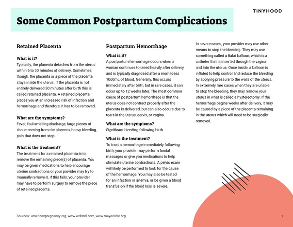 Some Common Postpartum Complications Preview Image