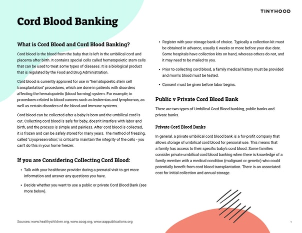 Cord Blood Banking Preview Image
