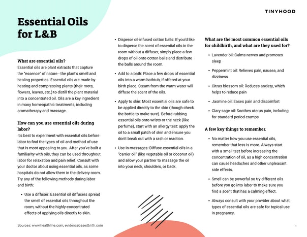 Essential Oils for Labor & Birth Preview Image