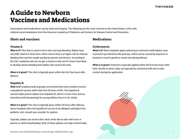 A Guide to Newborn Vaccines & Medications Preview Image