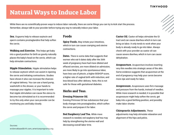 A Guide to Natural Ways to Induce Labor Preview Image