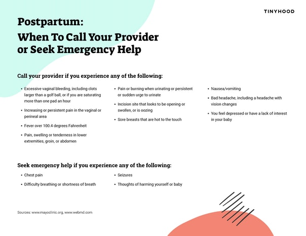 Postpartum: When to Call Your Provider or Seek Emergency Help Preview Image