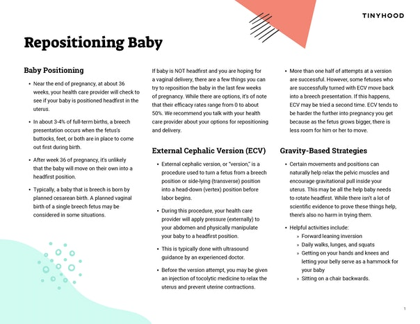 Repositioning Baby Preview Image