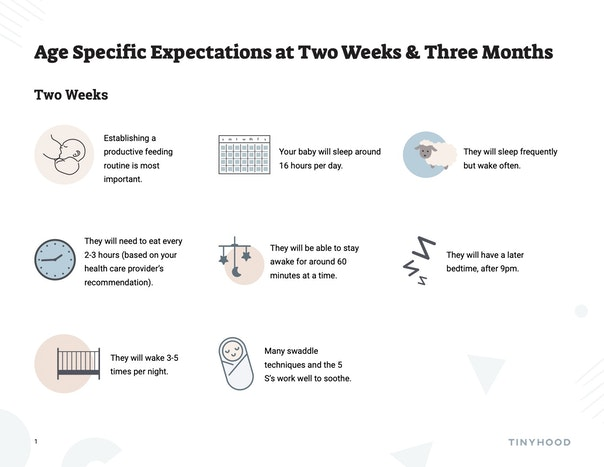 Sleep Expectations at 2 Weeks and 3 Months Preview Image