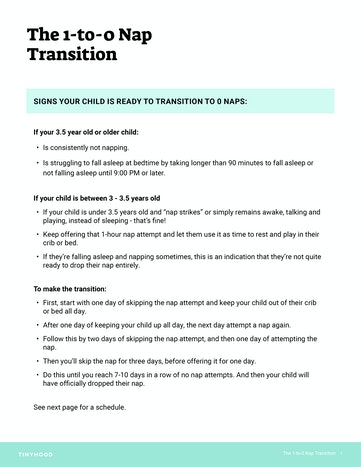 Overview of the Transition to 0 Naps Preview Image
