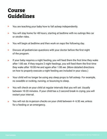 Pediatrician Guidelines and Questions Preview Image