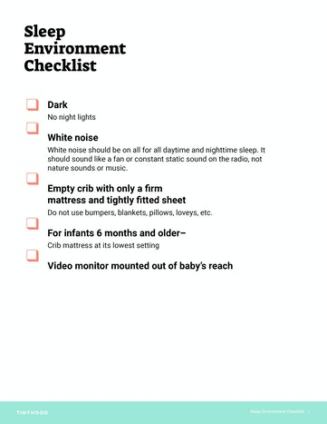 Bedroom Environment Checklist Preview Image
