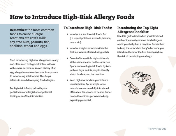 Timeline for Introducing High Risk Allergy Foods Preview Image