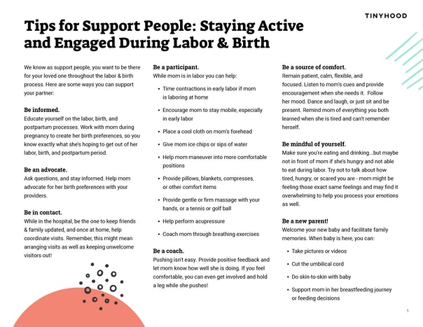 Tips for Support People Preview Image