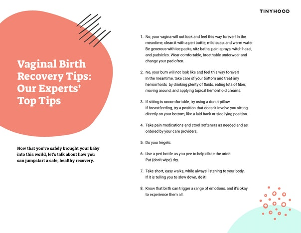 A Guide to Vaginal Birth Recovery Preview Image